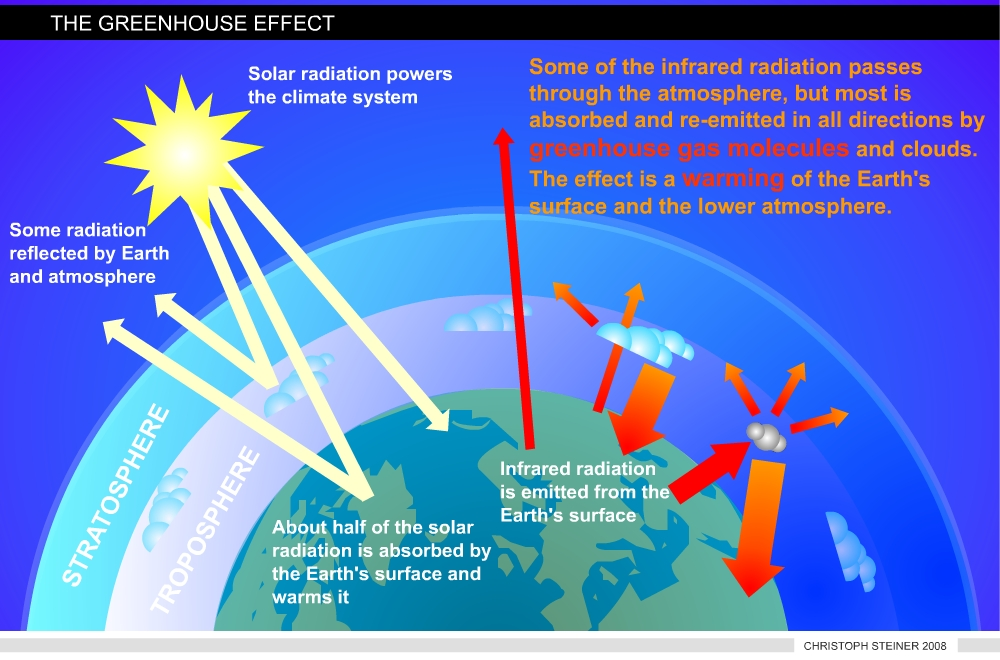 The greenhouse effect for Green housse effect